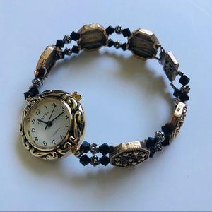 GENEVA Jeweled watch gold toned details